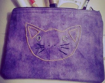 Kitty Face Accessory or Makeup Bag