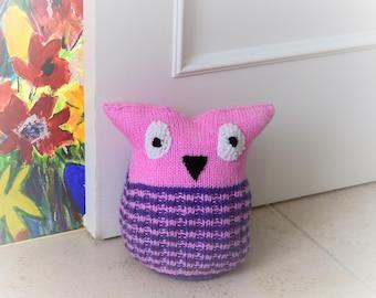 Doorstop Knitting Pattern, Owl Knitting Pattern,  Owl Doorstop, Door stop Knitting Pattern, Handmade Owl Pattern, Knitted Owl Pattern, Owls