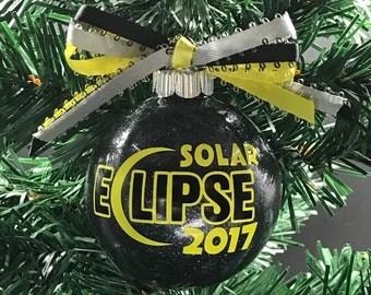 Solar Eclipse Ornament, Christmas Swap, Eclipse Ornament, 2017 Solar Eclipse, Gift For Nerd, Astronomy Gift, 2017 Eclipse, Total Eclipse