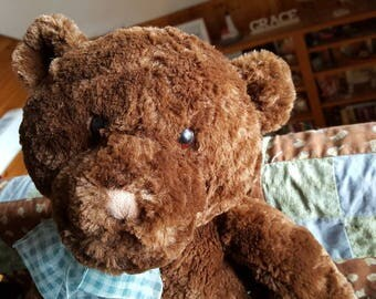 """Vintage Gund """"Heads and Tales"""" Grizzly Teddy Bear   C411J"""