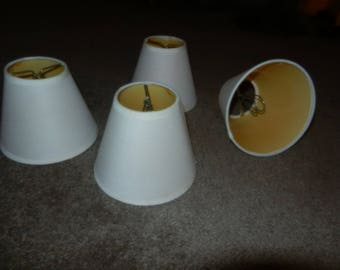 Four Vintage Clip-on Mini Shades - For Wall Sconces or Chandeliers