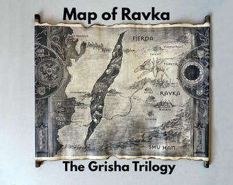 Map of Ravka Scroll, The Grisha Trilogy Map, Ravka Map, Grishaverse Map, World of the Grisha Map, Leigh Bardugo's Map, Shadow and Bone Map