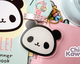 Chic Kawaii panda Keychain Acrylic. Lovely.