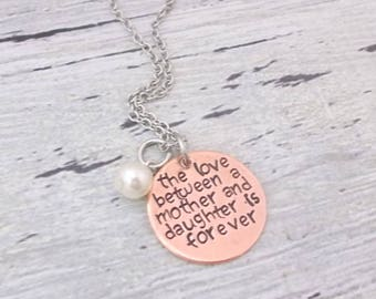 Mother Jewelry, Daughter Jewelry, Mom Gift, Daughter Gift, Mom Necklace, Mother Necklace, Daughter Necklace, Personalized Mother Jewelry