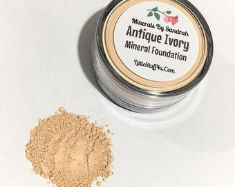 ANTIQUE IVORY Mineral Foundation - Gluten Free Vegan Powder Mineral Makeup