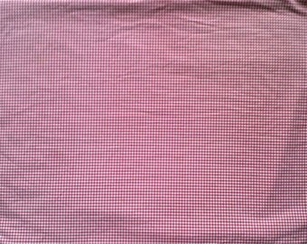 JC Penney Red & White Gingham Print Queen Size Flat Bed Sheet