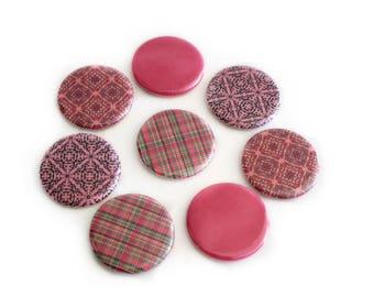 Pink Refrigerator Magnets - Pink Boho Magnet Set - Boho Fridge Magnets - Bohemian Home Decor - Office Decor - Housewarming or Hostess Gift