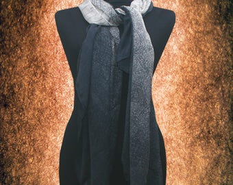 Women Luxury Gradation Cotton blend Scarf Muffler Free size