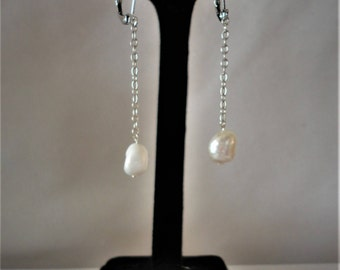 Stunning Larger Fresh Water Pearl Earrings*****..