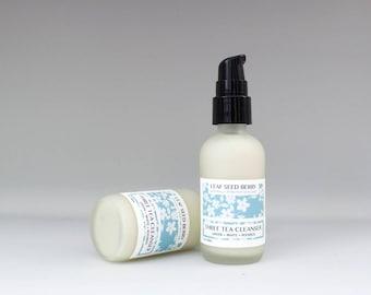 Three Tea Facial Cleanser, Organic Facial Wash, Sensitive Skin Cleanser, Face Cleanser, Organic Cleanser, Green Tea Skincare, Natural Wash