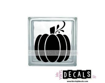Great Pumpkin - Halloween Vinyl Lettering for Glass Blocks - Craft Decals
