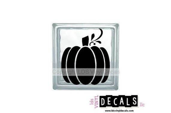 Great Pumpkin Halloween Vinyl Lettering For Glass Blocks Craft - Halloween vinyl decals for glass blocks