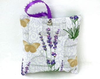 Hand-sewn Hanging Lavender Sachet filled with home-grown lavender from Napa Valley | Air Freshner | Sleep Aid