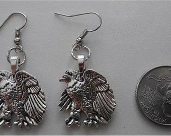 Alloy Eagle Earrings & Necklace