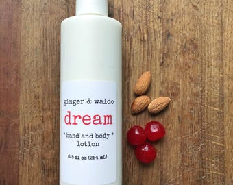 Dream Hand and Body Lotion - Cherry Almond Lotion - Hand and Body Lotion - Cherry Lotion - Vegan Lotion - Hand Lotion - Body Lotion