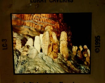 Vintage Luray Caverns Slides (4) by Finley Holiday Films of Cave Formations and People Interacting with Environment