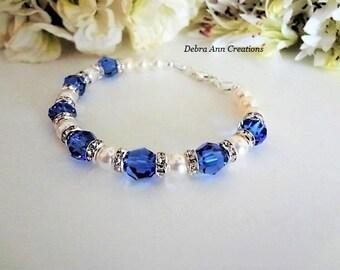 Sapphire Birthstone Bracelet September Birthstone Jewelry Sapphire Blue Jewelry Sapphire Bracelet September Birthday Jewelry Gift For Mom