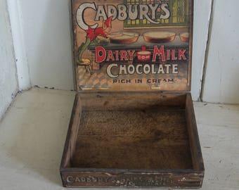 Rare Antique Cadbury Chocolate Box - Dairy Milk