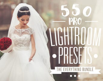 Pro Adobe Lightroom Presets Bundle - Lightroom Presets for Adobe Lightroom 4, 5, 6 and CC - Wedding, Portrait, Landscape, Newborn