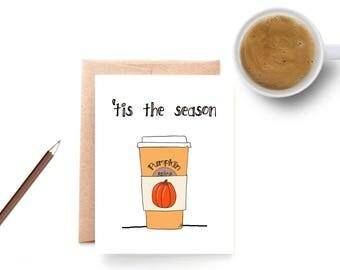 Pumpkin Spice Autumn Card – Fall Stationery