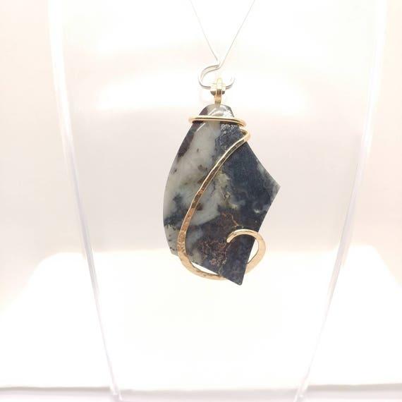 Rare Mohawkite Pendant | Natural Mohawkite in Quartz Necklace | Sterling Silver | Mens Stone Pendant | Simple Stone Pendant | Mohawk Mine