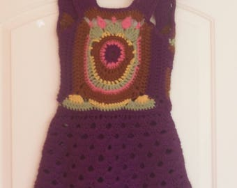 Vintage 1970's Knit Sundress, S or child size