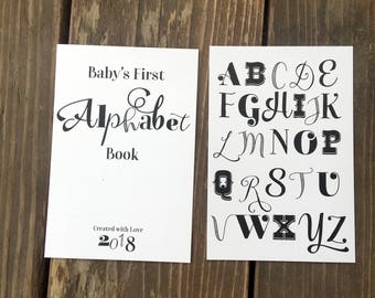 Book baby shower etsy instant download diy vintage alphabet book baby shower activity game do it yourself solutioingenieria Image collections