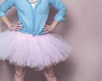 Pink Tutu - Pink Tulle Skirt - Ballet Tulle Skirt - Bachelorette Skirt - Twelve Inch Tutu - Pink