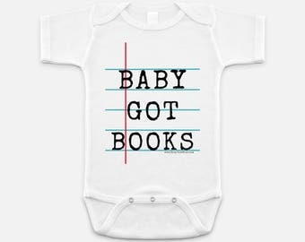 Baby Got Book - Personalized Notebook Paper Graphic© Bodysuit for Babies - Fun  Gift for Teacher & Student