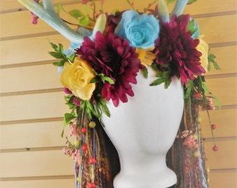 Springtime Festival Antler Goddess Headdress