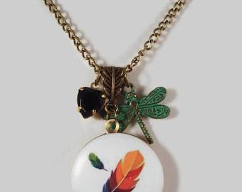 Feather Locket Necklace Photo Locket Necklace Locket Necklace Feather Locket Jewelry Gift For Her