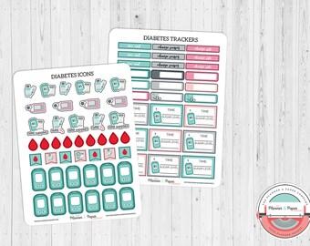 Diabetes Planner Sticker Kit