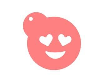 Emoji Heart Eyes Stencil, Heart Eyes Emoji Cookies, Emoji Cookie Stencil, Emoji Baking Stencil, Love Emoji Cookies, Love Emoji Stencil