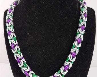 Byzantine chainmail necklace