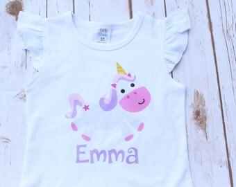 Little Girl Unicorn Shirt; Unicorn Printable HTV Shirt; Toddler Girl Shirt; Vinyl Unicorn Shirt