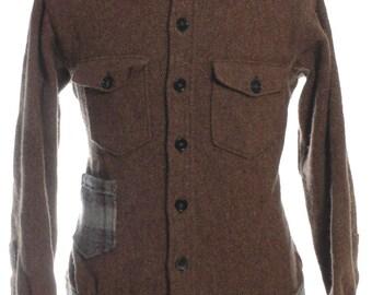 Re Worked Woolrich Brown Jacket L - www.brickvintage.com