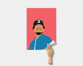 Chance the Rapper Poster. Minimal Poster. Chance the Rapper Print.