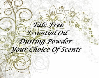 Talc Free Powder, Women's Scented Body Powder, Organic Body Powder, Talc Free Dusting Powder, Vegan, Essential Oil Dusting Powder