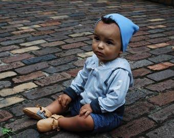 Blue Slouchy Baby Beanie - Blue Baby Boy Beanie - Blue Baby Boy Hat - Blue Baby Beanie - Blue Baby Girl Hat - Blue Baby Girl Beanie - Beanie