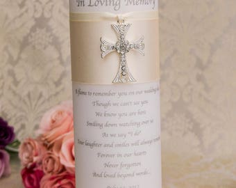 Memorial Candle Memory Candle Personalized Wedding Memorial Candle Remembrance Candle Customized Wedding