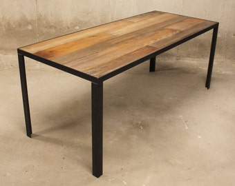 Reclaimed Wood Dining Table with Minimalist Legs- Free Shipping