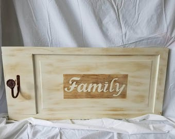 Handmade Family Wall Hanging with Hook