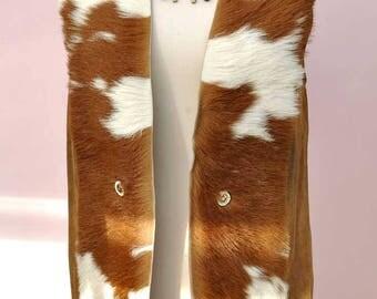 Vintage 60s Deerskin Leather Gilet • Suede Vest • Hippy