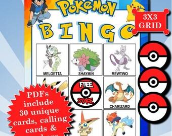 POKÉMON 3x3 Bingo printable PDFs contain everything you need to play Bingo.