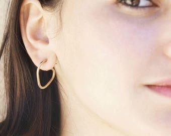 Hoop Earrings, Teardrop Hoop Earrings, Hoop Earrings silver, Minimalist Earrings, Simple Everyday Jewelry.