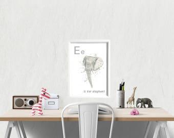 nursery wall art, nursery decor, nursery art, animal prints for nursery, animal nursery, animal alphabet, educational posters, kids room