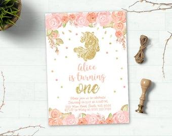 unicorn invitation | etsy, Einladungen