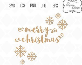 Merry christmas svg, christmas clipart, holiday clip art, winter svg, snowflake svg, cricut cut files, snowman svg, christmas svg