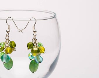 Emerald City Glass Bead Earrings