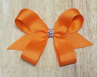 Small Orange Hair Bows